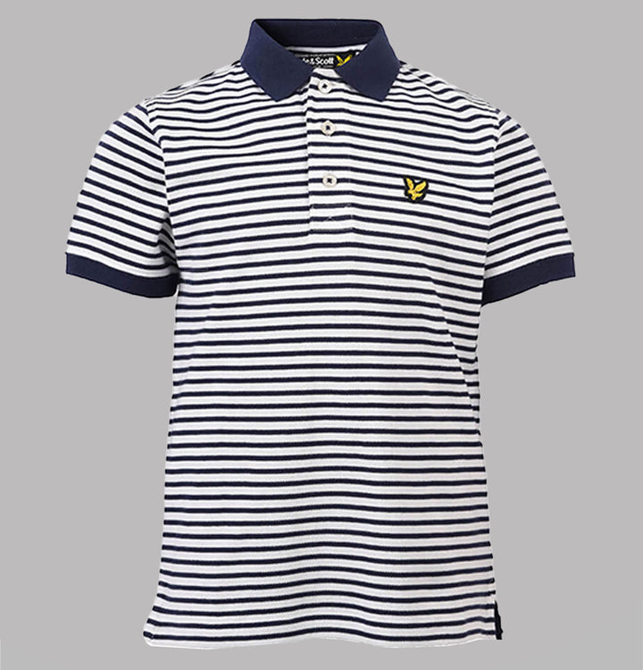 Fine Stripe Polo Shirt - Navy