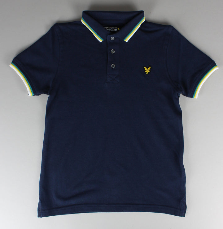 Colour Tipped Polo Shirt - Deep Indigo