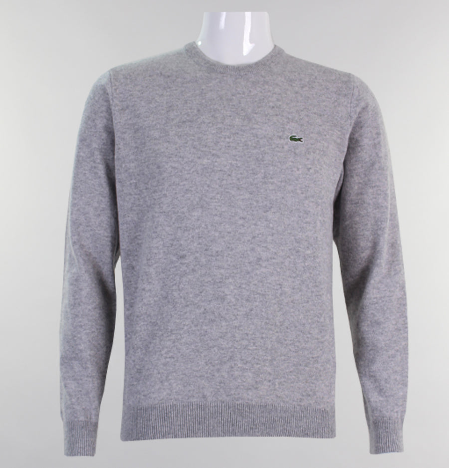Lacoste Crew Neck Wool Sweater Light Grey
