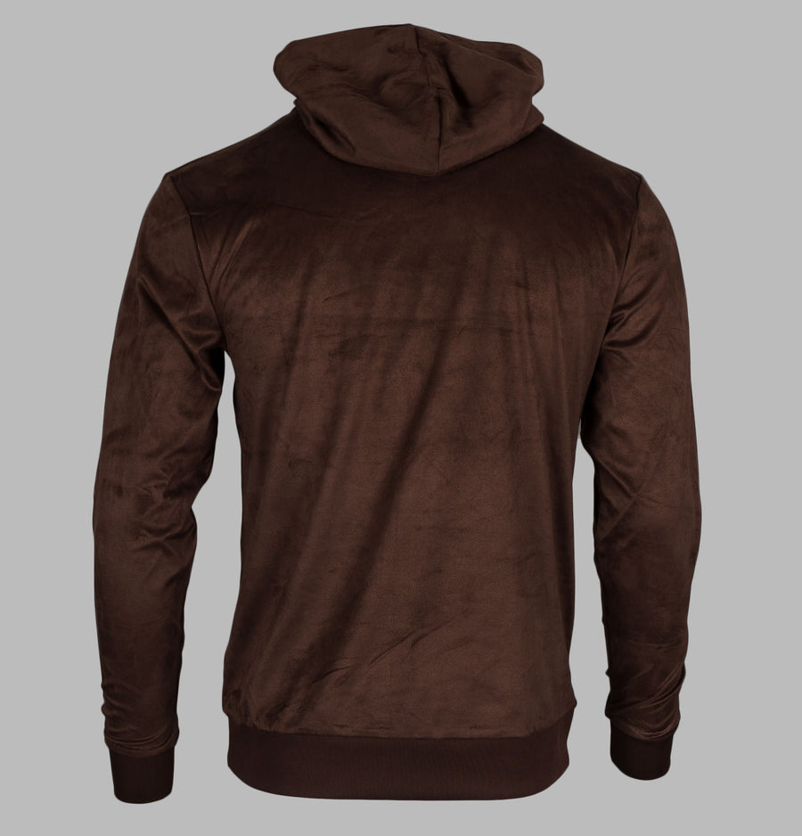 Sik Silk Cotton Suede Overhead Hoodie Brown