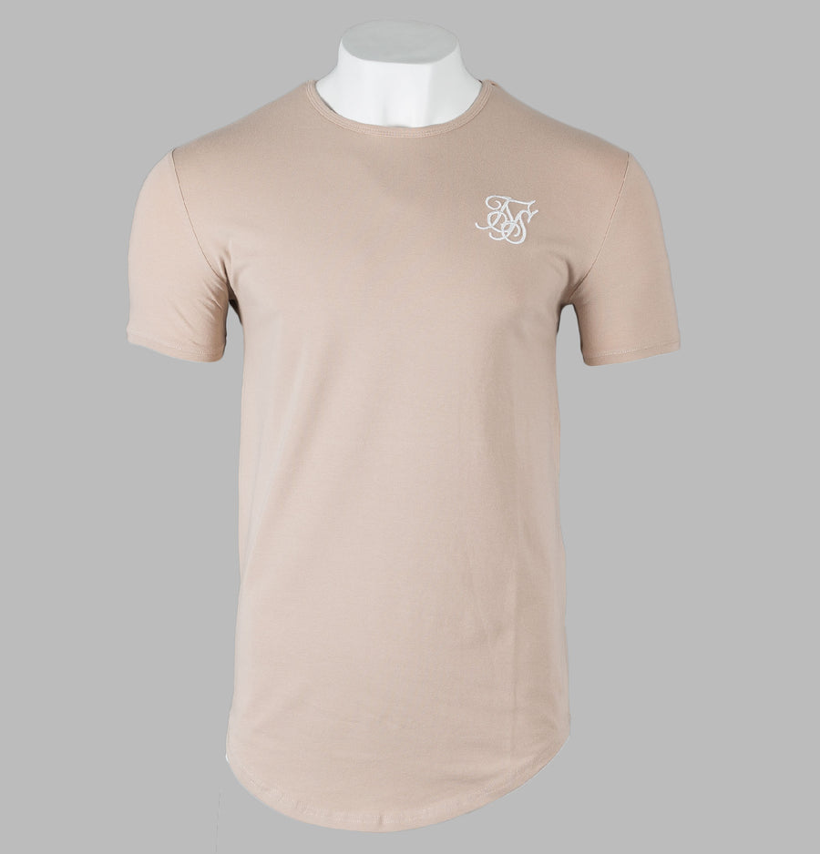 Sik Silk Short Sleeve Gym Tee Beige