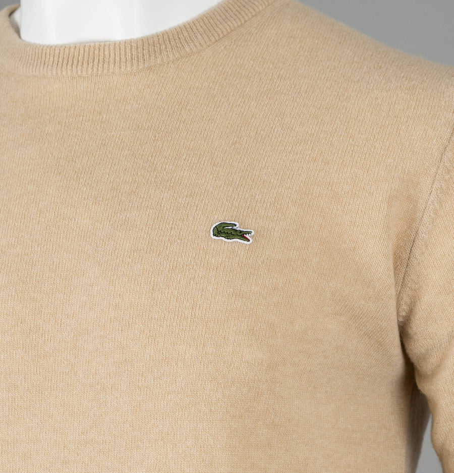 Lacoste High Neck Wool Jersey Sweater
