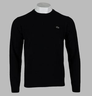 Lacoste High Neck Wool Jersey Sweater Black