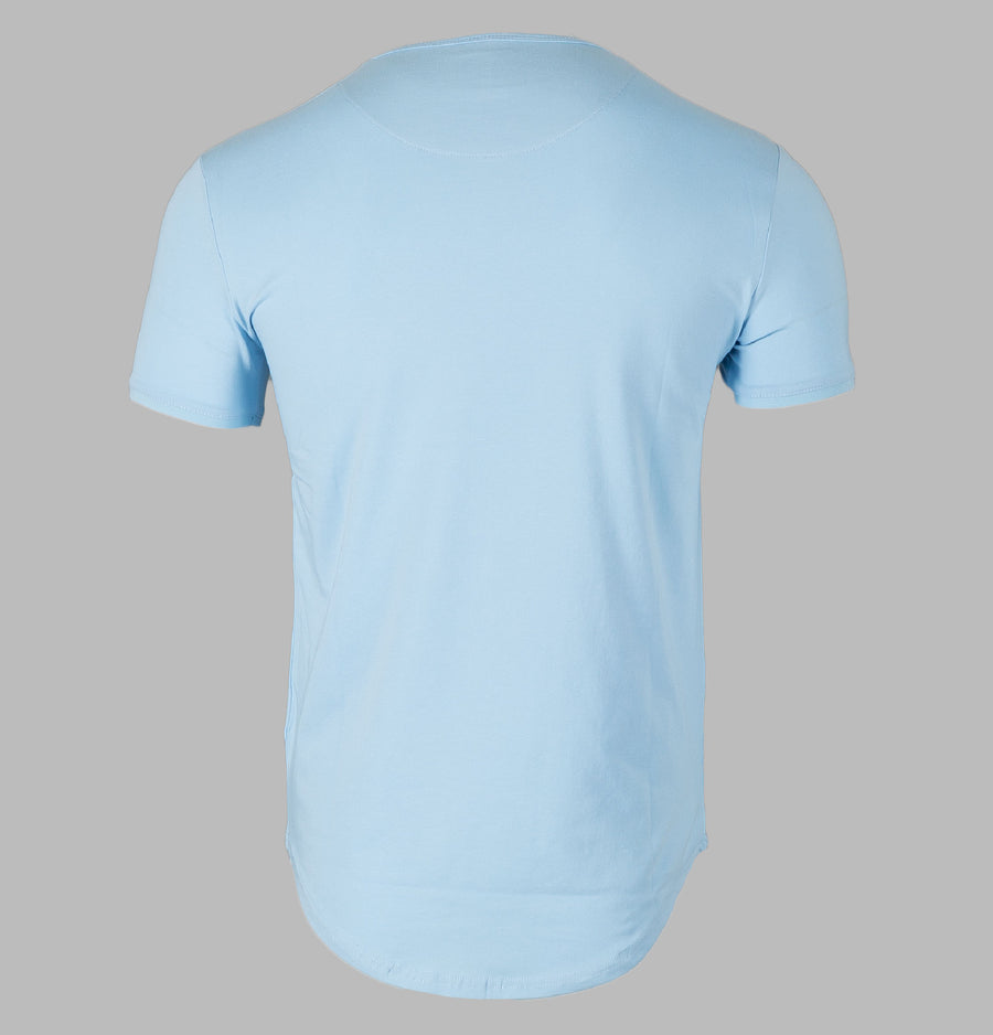 Sik Silk Short Sleeve Gym Tee Baby Blue