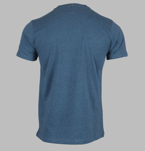 Pretty Green Marl Crew Neck T-Shirt Blue Marl