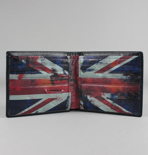 Union Jack Bi-fold Wallet - Black
