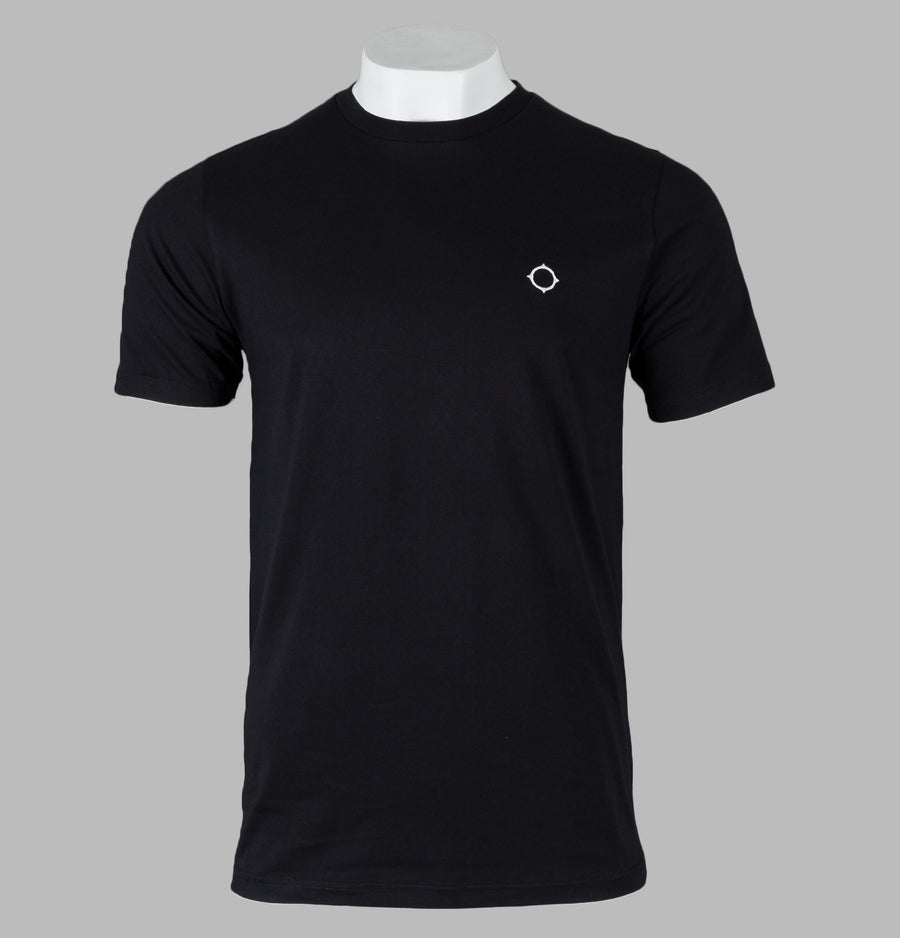 Ma.Strum Iset S/S Compass Logo T-Shirt Jet Black