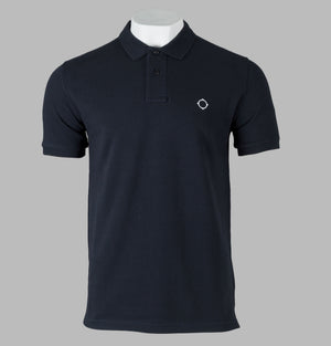 Ma.Strum Walrus S/S Pique Polo Shirt Dark Navy