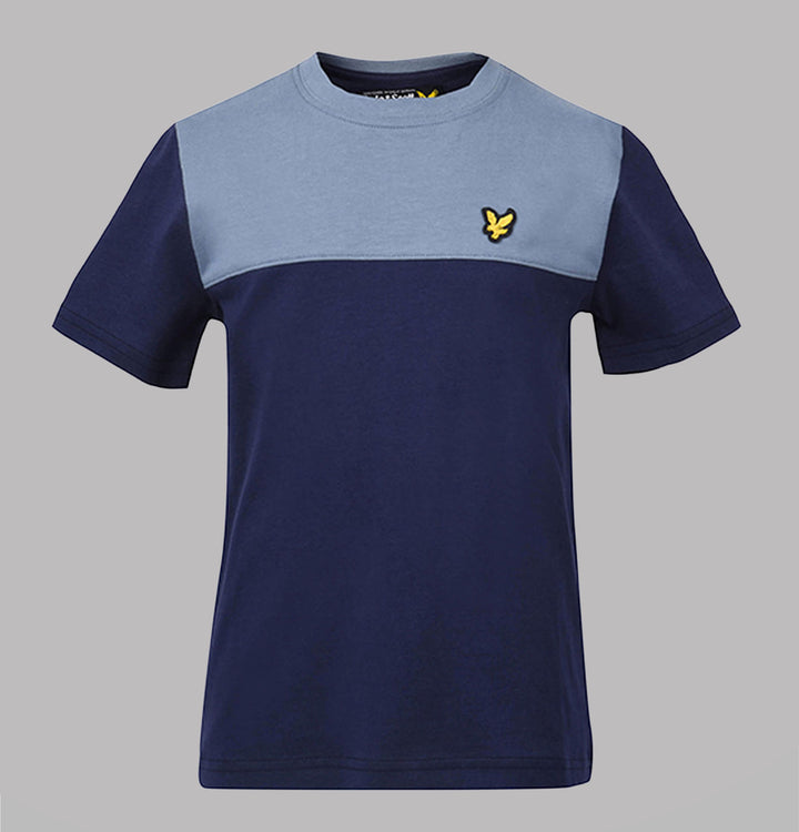 Yoke Panel T-Shirt - Navy
