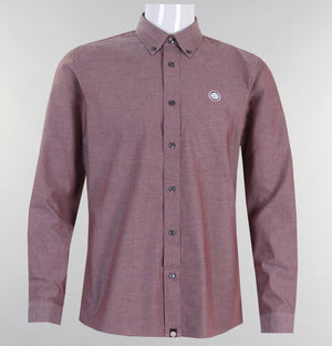 Pretty Green Oldbury Oxford Shirt Burgundy