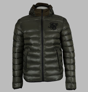 Sik Silk Frontline Bubble Jacket Khaki