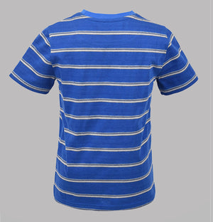 Birdseye Stripe T-Shirt - Lake Blue