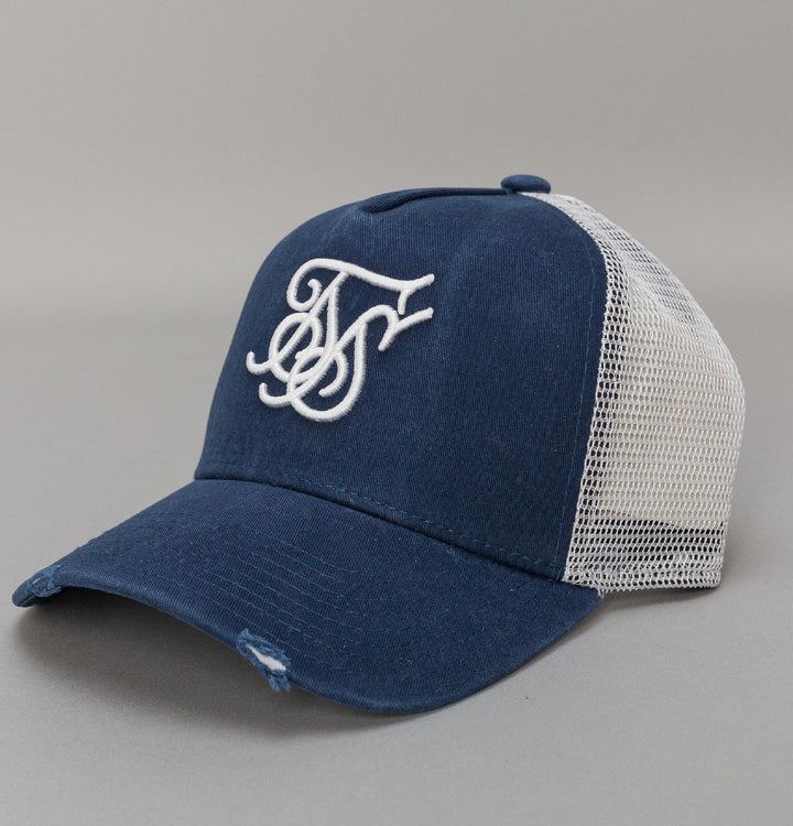X Starter Distressed Trucker - Navy/White