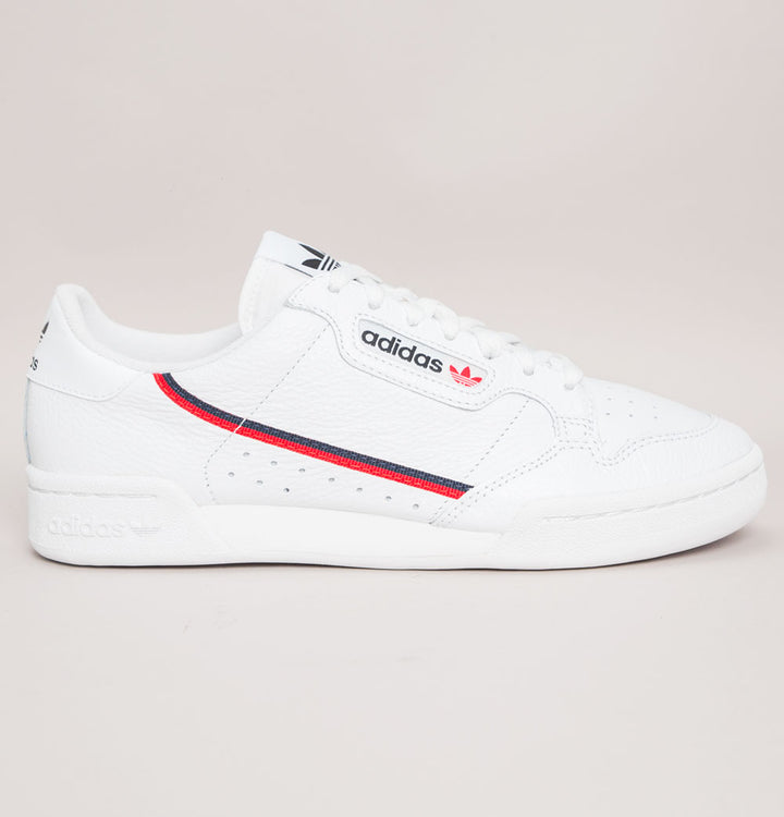 Adidas Continental 80 Trainers White/Scarlet