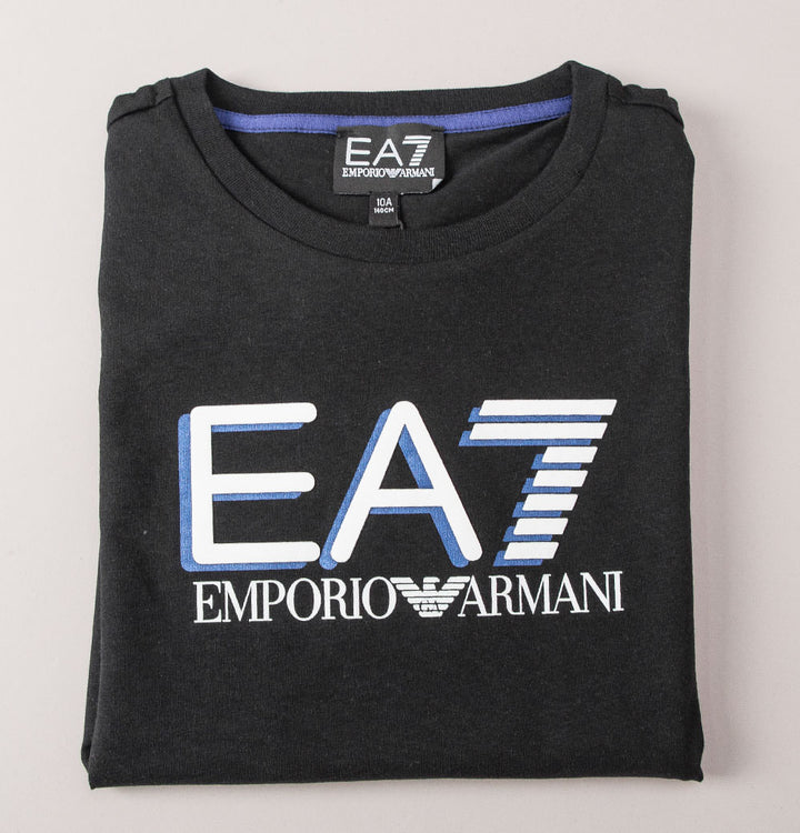 EA7 Chest Tipped Logo T-Shirt Black