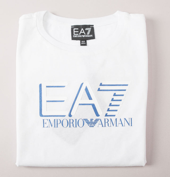 EA7 Chest Tipped Logo T-Shirt White