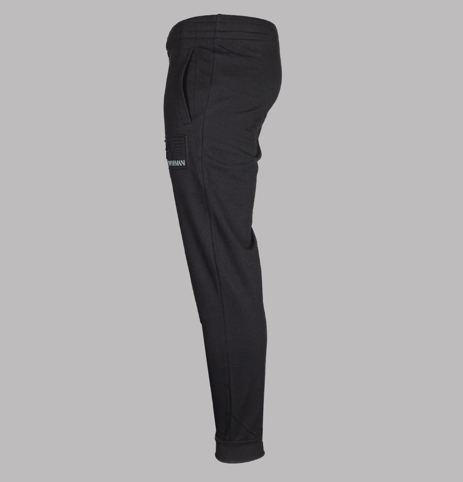 EA7 Bold Raised Logo Joggers Black