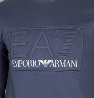 EA7 Bold Raised Logo Sweatshirt Navy