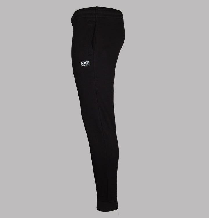 EA7 Rubber Box Logo Joggers Black