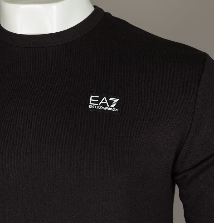 EA7 Rubber Box Logo Sweatshirt Black