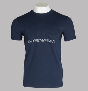 EA7 Bold Raised Logo T-Shirt Navy