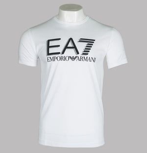 EA7 Large Chest Tipped Logo T-Shirt White