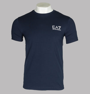 EA7 Side Taping Logo T-Shirt Navy