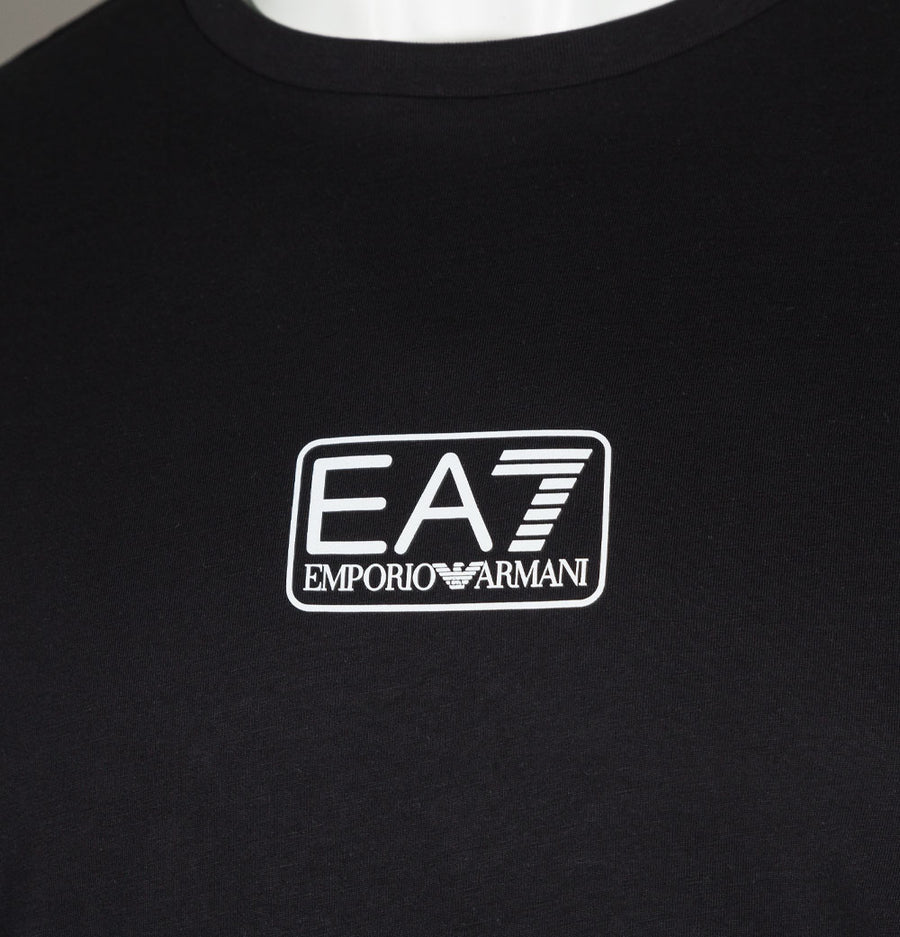 EA7 Small Chest Logo T-Shirt Black