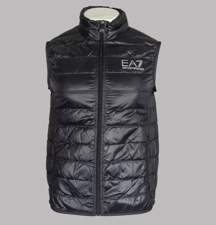 EA7 Quilted Down Gilet Black/Silver