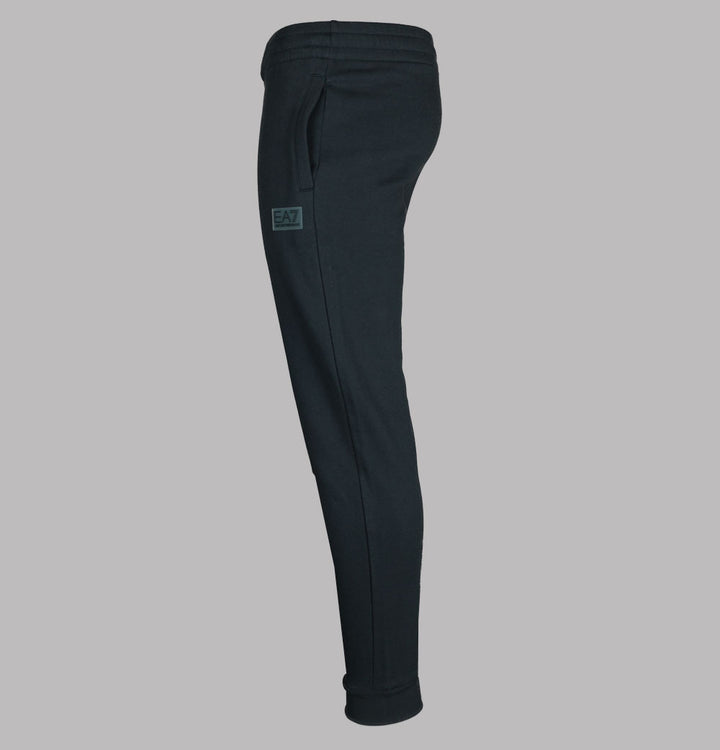 EA7 Rubber Logo Joggers Night Blue