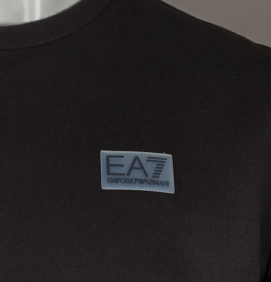 EA7 Rubber Logo Sweatshirt Black