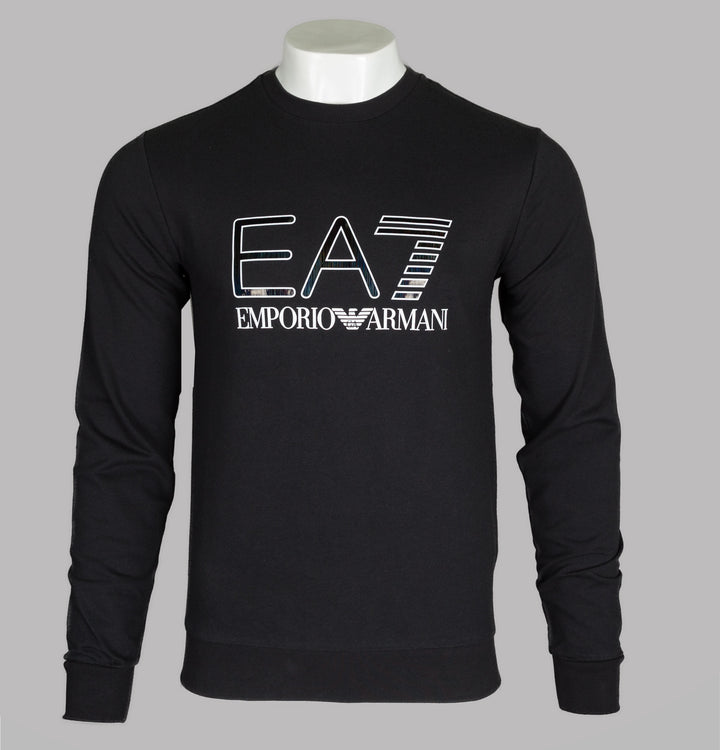 EA7 Iridescent Logo Sweatshirt Black