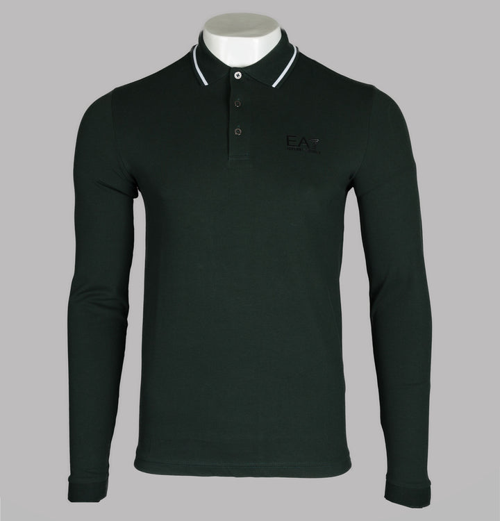 L/S Tipped Collar Polo Shirt