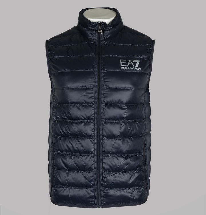 EA7 Quilted Down Gilet Night Blue