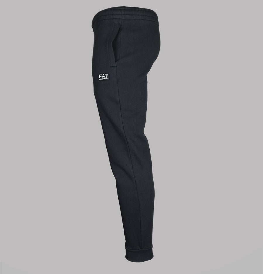 EA7 Rubber Box Logo Joggers Night Blue