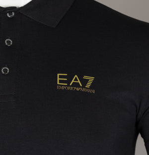 EA7 S/S Jersey Polo Shirt Black