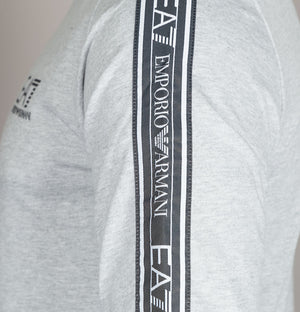 EA7 Shoulder Taping Sweatshirt Light Grey