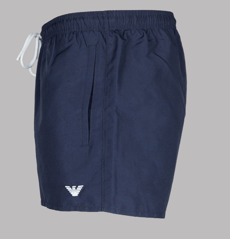 Emporio Armani Embroidered Logo Swim Shorts Navy