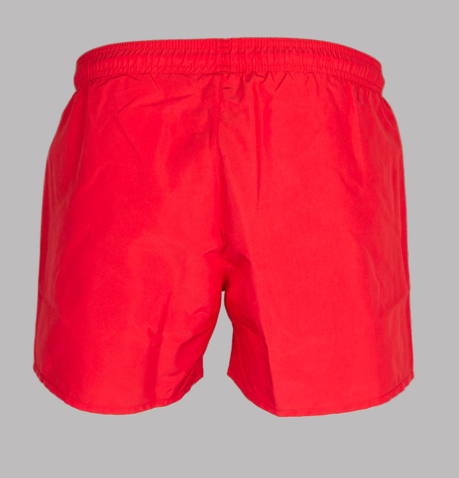 Emporio Armani Embroidered Logo Swim Shorts Red