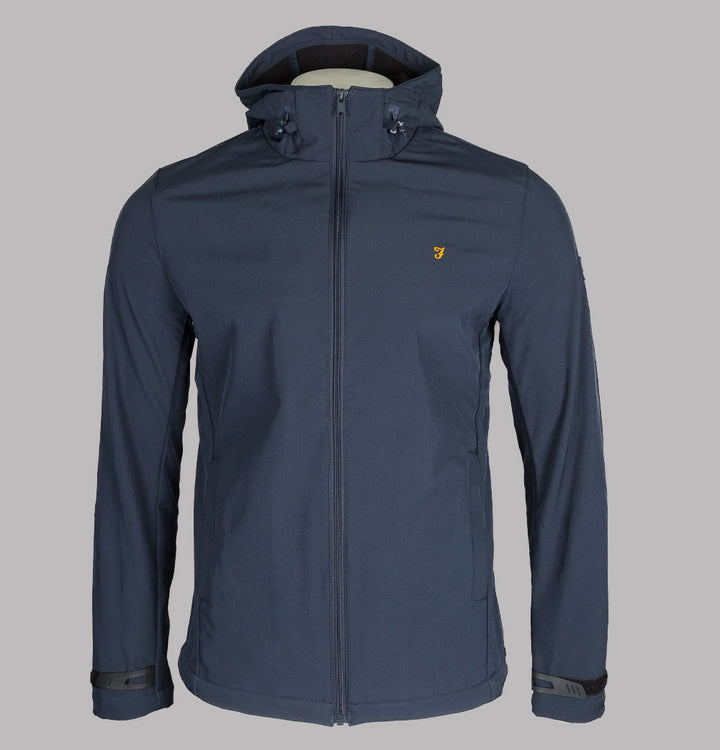 Farah Bective Soft Shell Jacket True Navy