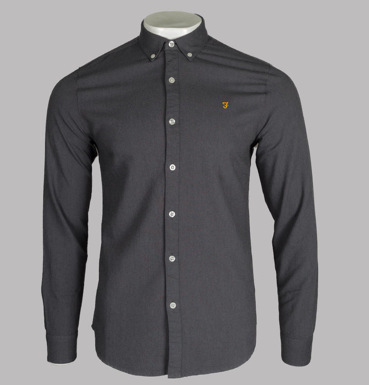 Farah Brewer Slim Fit Oxford Shirt Grey