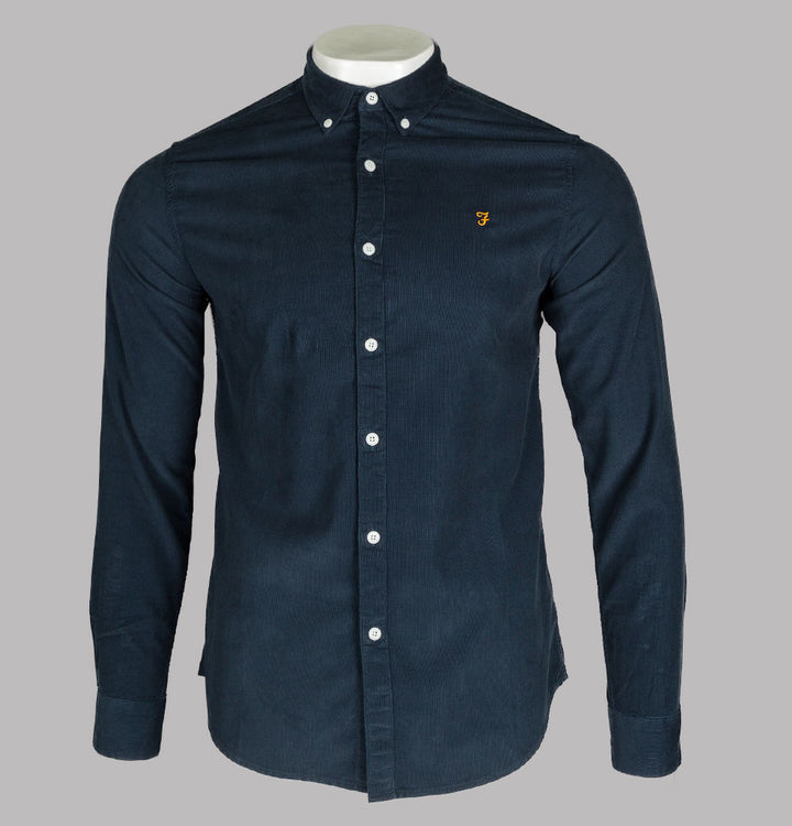 Farah Fontella Slim Fit Cord Shirt True Navy