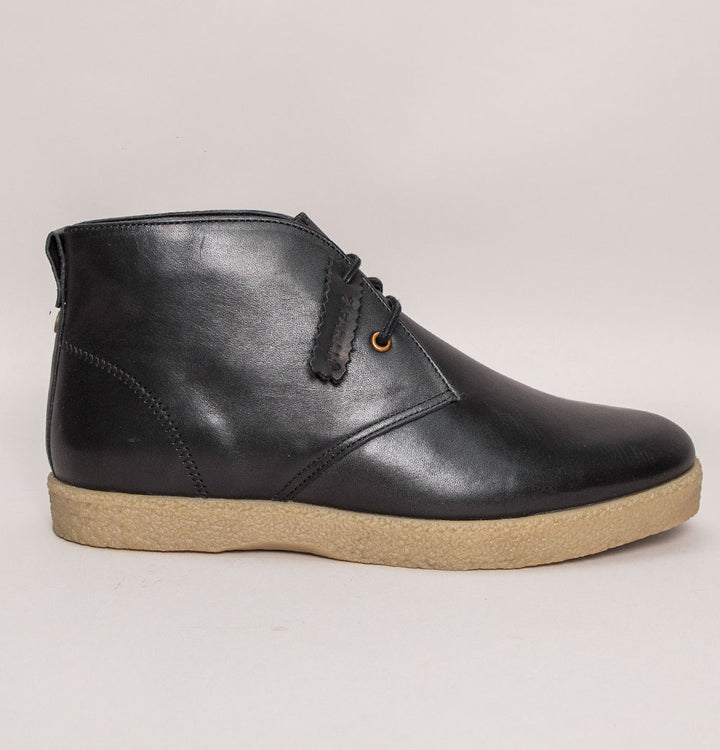 Farah Jonah Leather Desert Boots Black