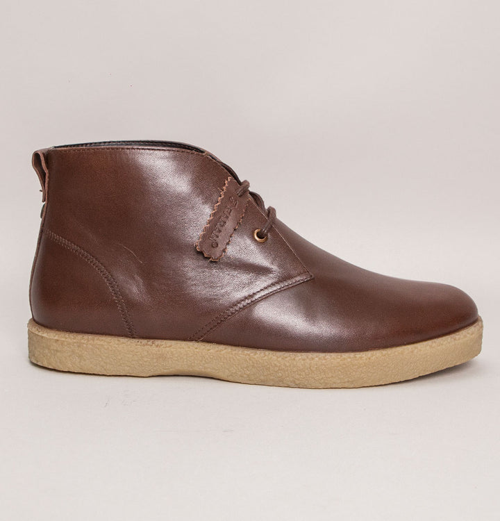 Farah Jonah Leather Desert Boots Brown