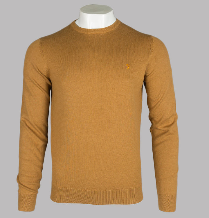 Farah Mullen Cotton Sweater Burnt Almond