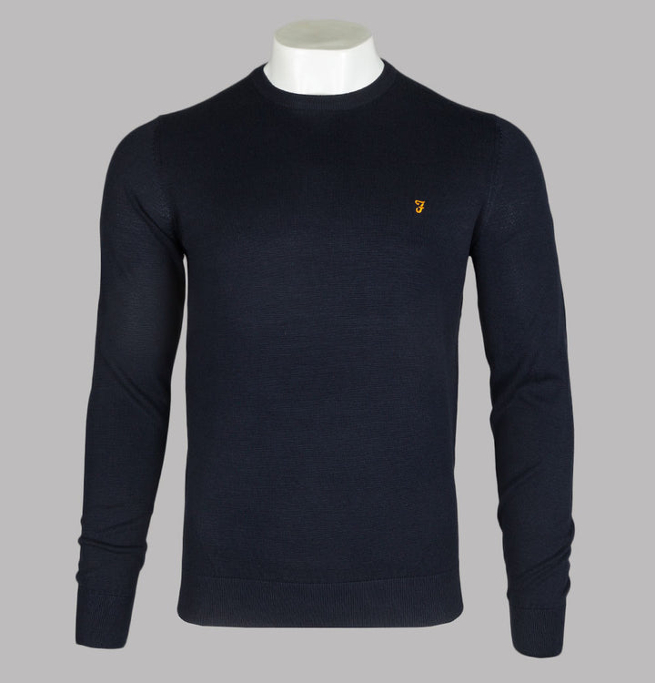 Farah Mullen Cotton Sweater True Navy