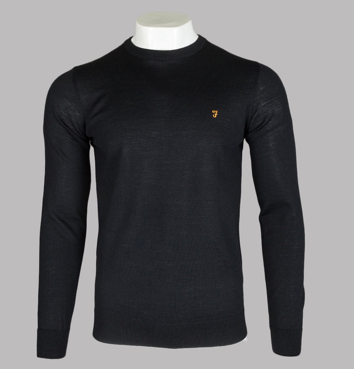 Farah Mullen Merino Wool Sweater Black