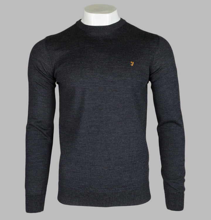 Farah Mullen Merino Wool Sweater Charcoal
