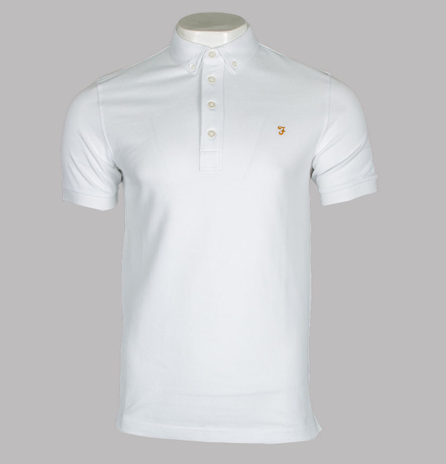 Farah Ricky Polo Shirt White