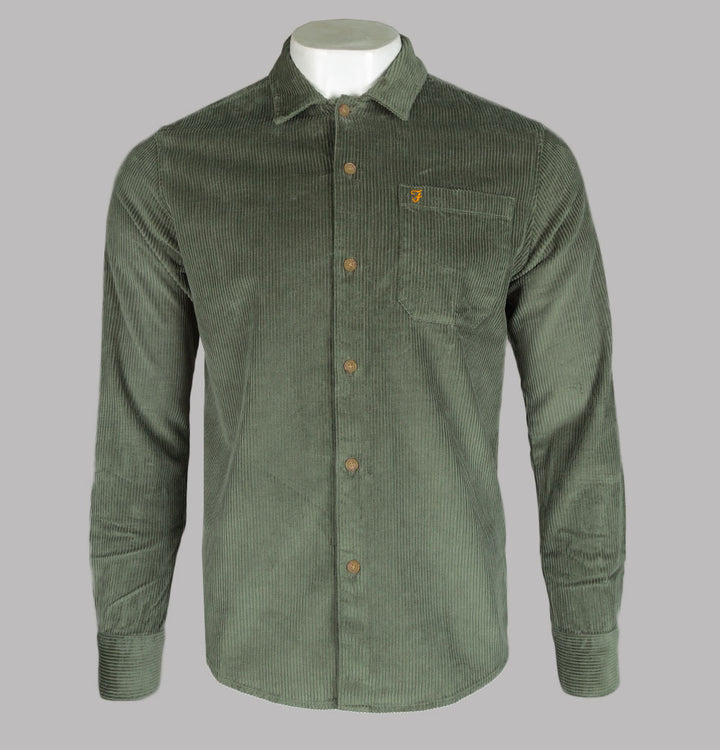 Farah Wyman Thick Cord Shirt Fern Green